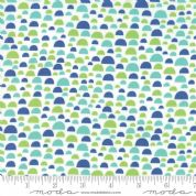 Jurassic Jamboree by Abi Hall - 4890 - Semi-circles on White - 35294 11 - Cotton Fabric